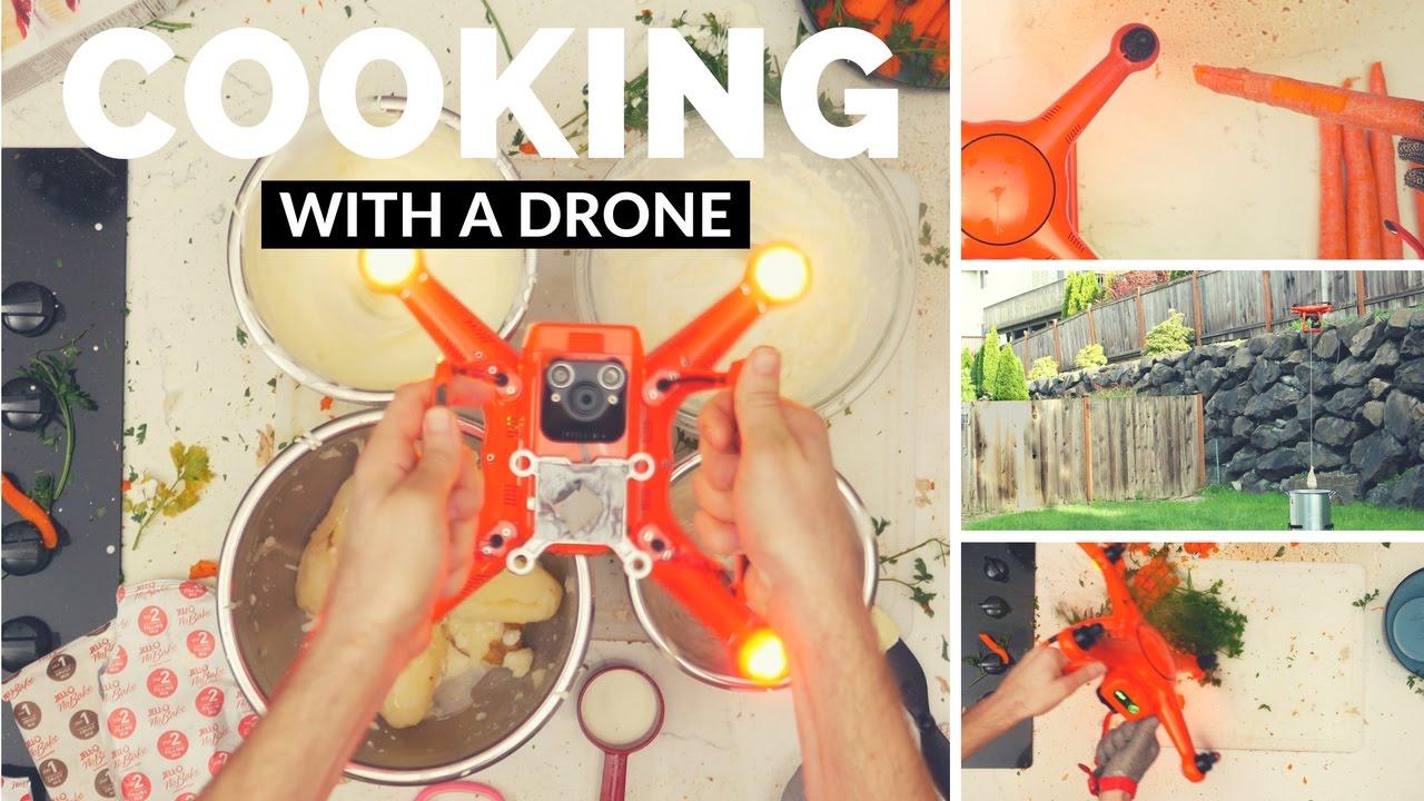 cuisiner avec un drone