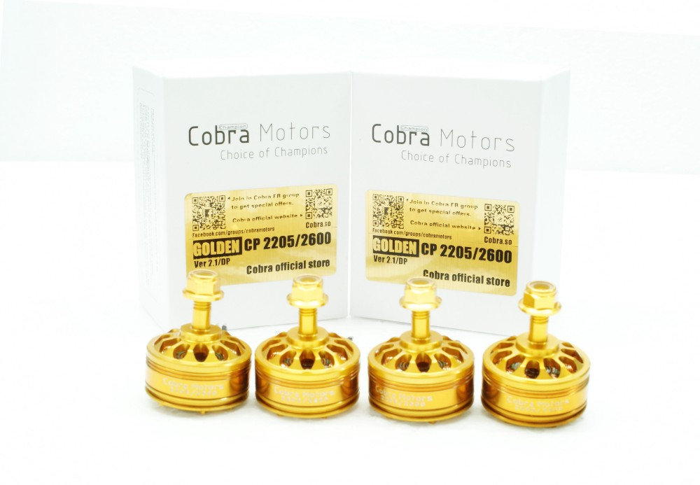 Boite de 4 Cobra Motors Golden Champion 2205