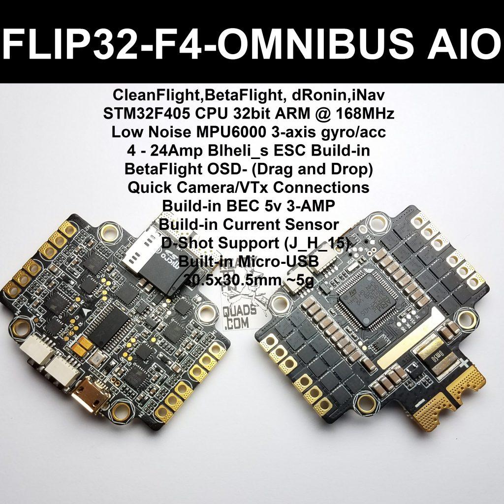 Flip 32 - F4 - Omnibus AIO SPECS