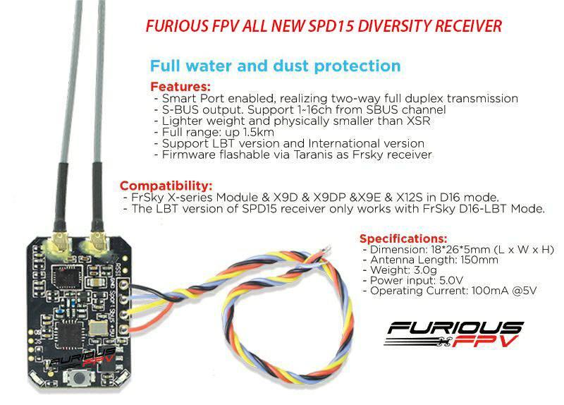 furious fpv spd15 specs