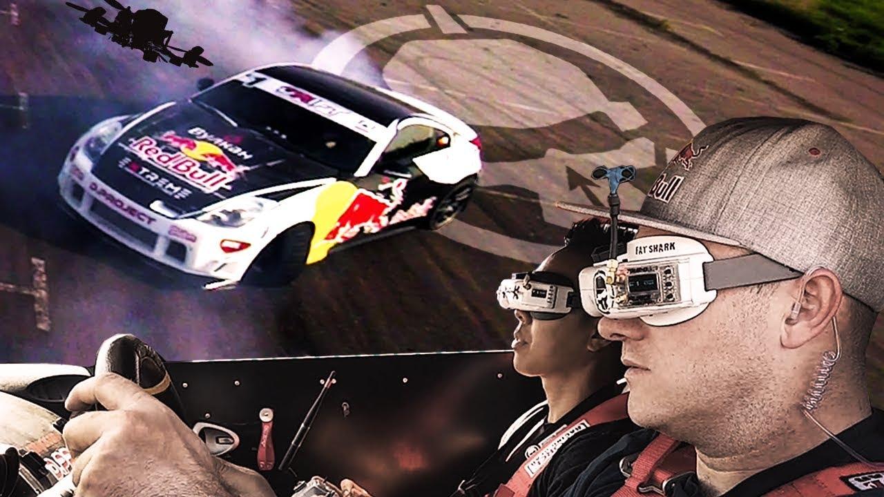 conduire voiture drift drone lunettes FPV