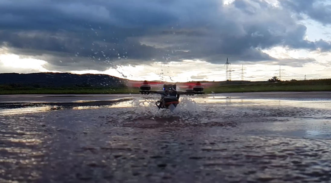 drone water slowmo