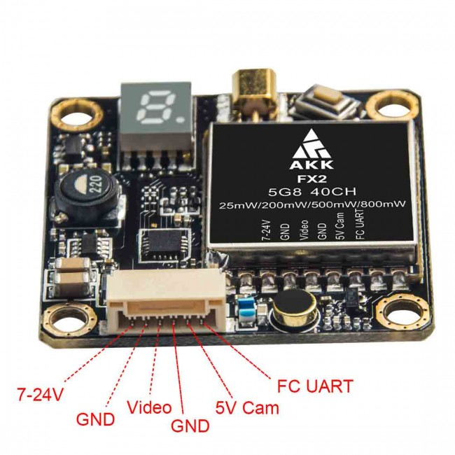 Test De L U0026 39  U00e9metteur Vid U00e9o Akk Fx2  Un Vtx Pas Cher Et Performant