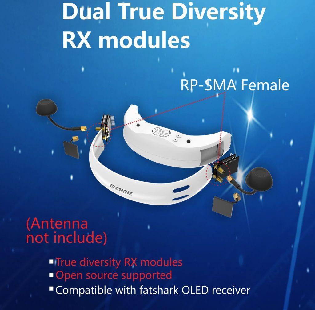 Eachine EV200D Dual True Diversity Modules