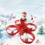 drone père noel