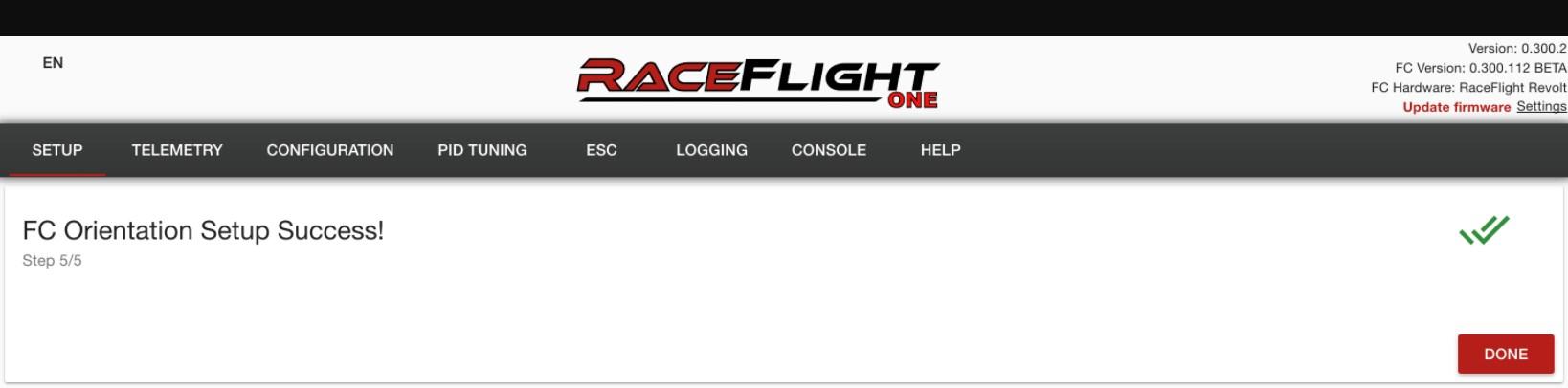 RaceFlight FC Orientation