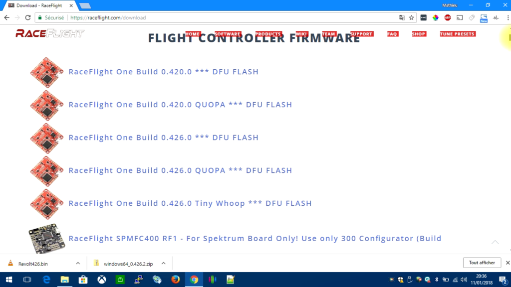 tuto-flash-raceflight-one-03-telechargement-firmware