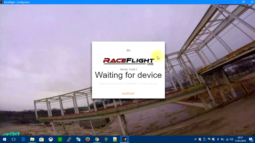 tuto-flash-raceflight-one-05-waiting-device