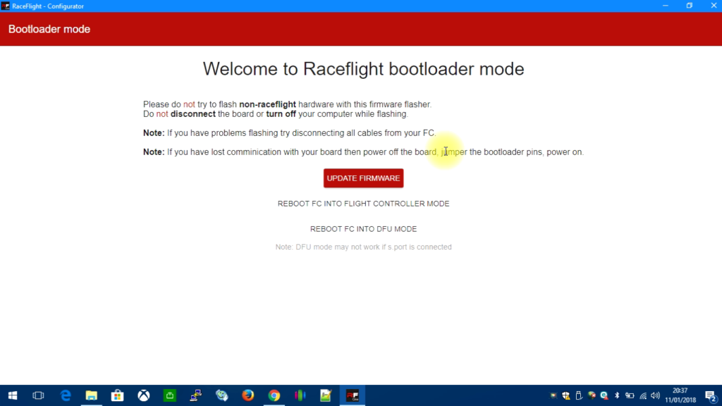 tuto-flash-raceflight-one-08-update-firmware