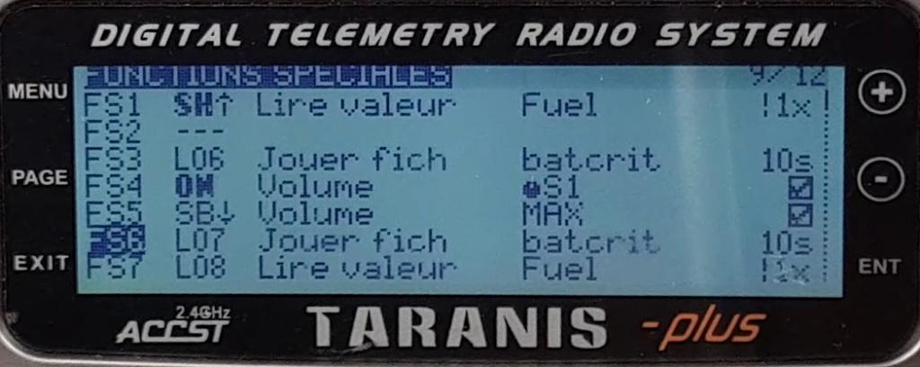 Tuto alertes Taranis fonctions spéciales