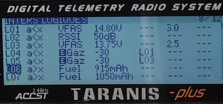 Tuto alertes Taranis interrupteurs Logiques 1