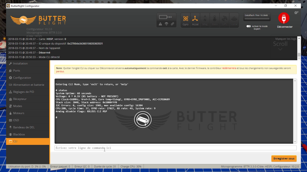 Installation ButterFlight Configurator CLI