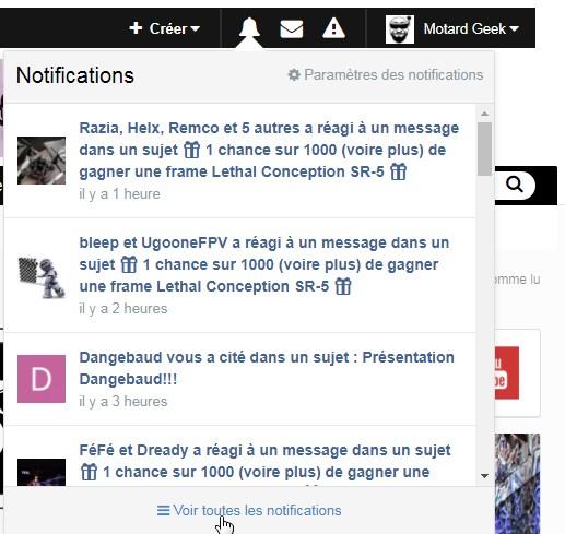 forum weare fpv notifications