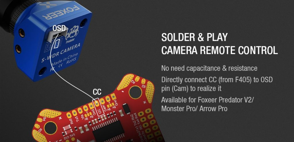BetaFlight Camera Remote Control F405