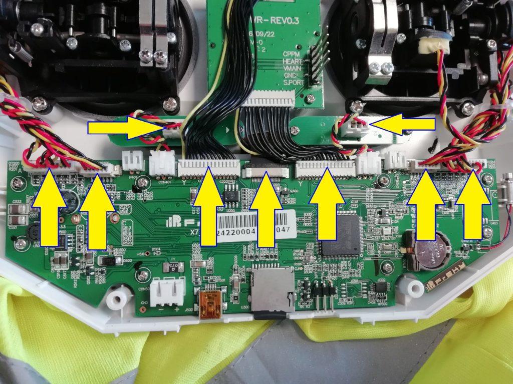 Démontage connecteurs gimbals FrSky Taranis QX7