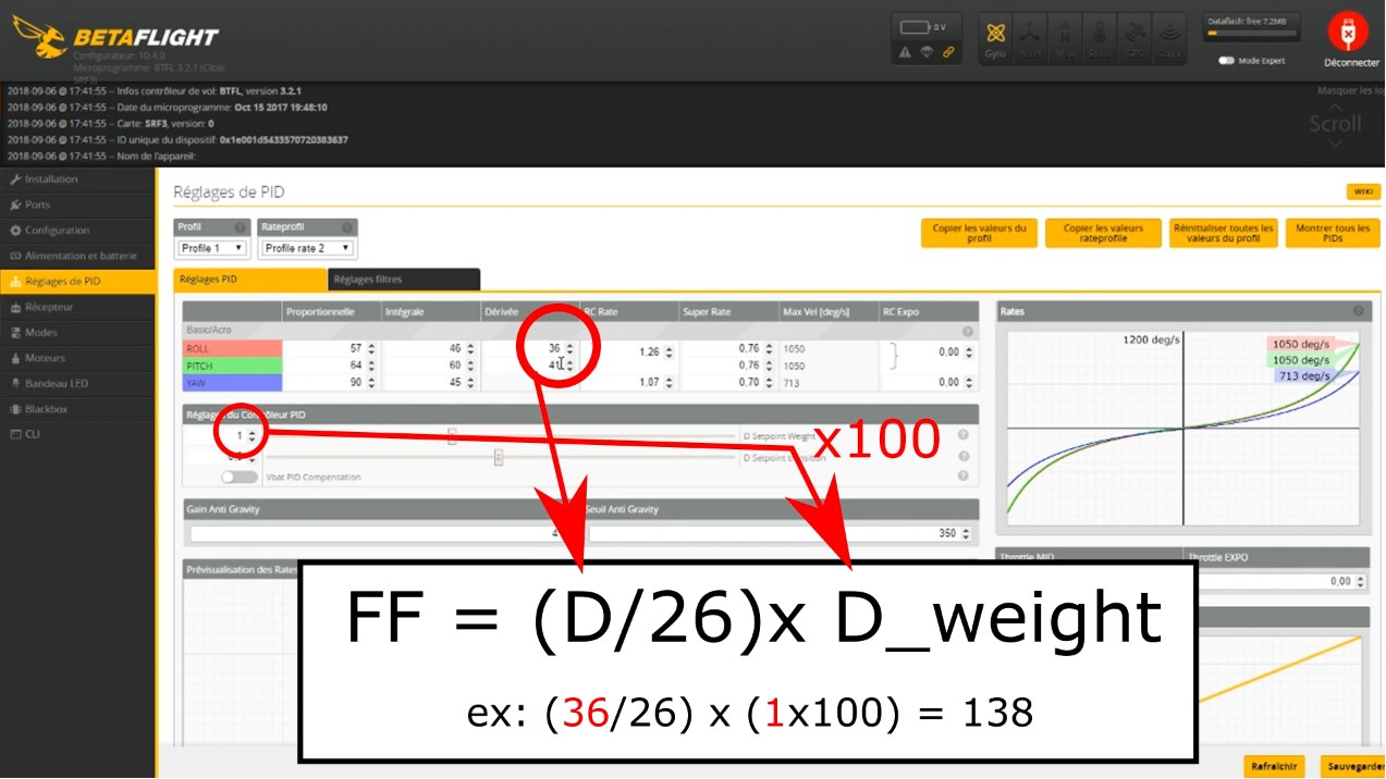 betaflight 3.5 convert setpoint to feed forward