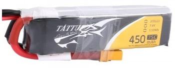 LiPo Tattu 450mAh 7.4V 75C 2S1P