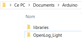 OpenLog Light Libraries