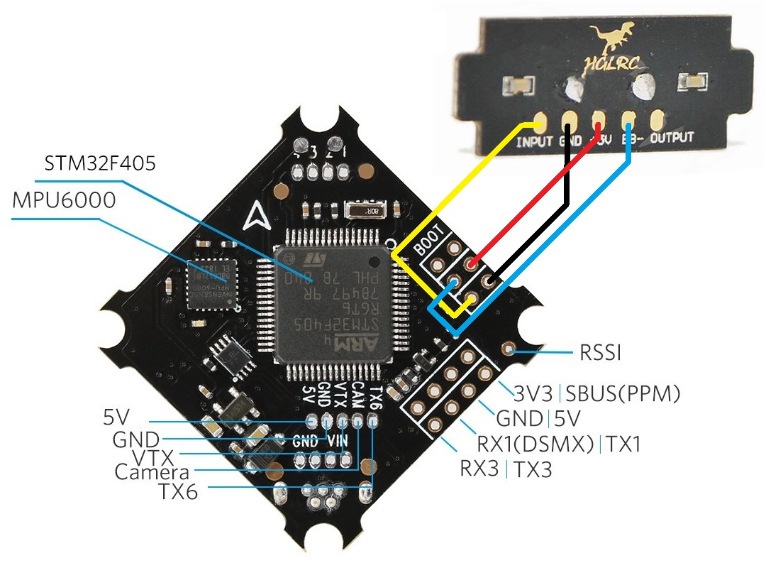 schéma cablage fc betafpv 75x led buzzer tuto wiring