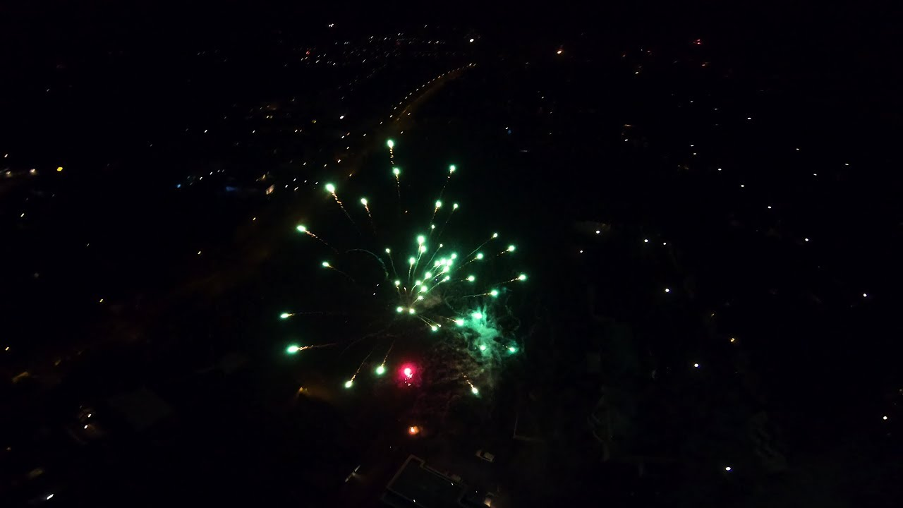 feu d'artifice drone
