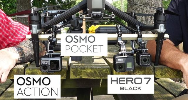 Osmo Action VS GoPro Hero 7 VS Osmo Pocket