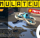 test simulateur drone fpv tinywhoop ereadrone betafpv