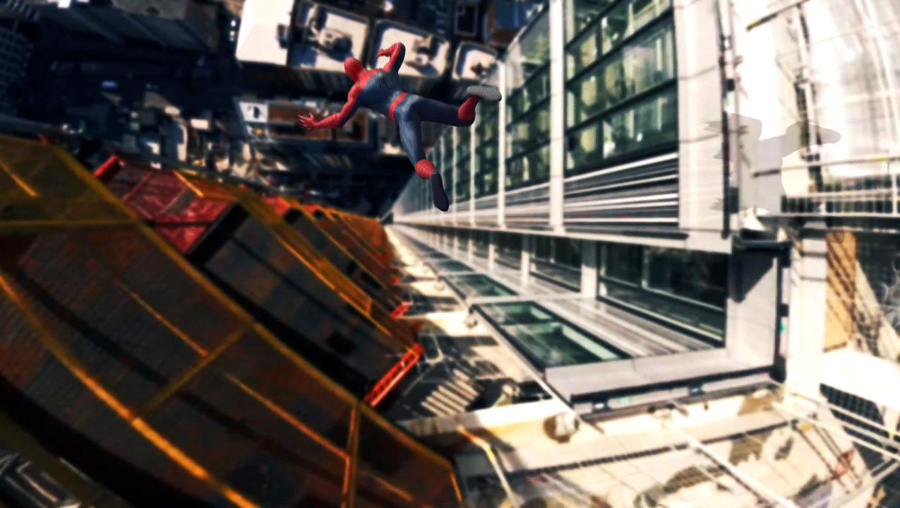 drone vs spiderman