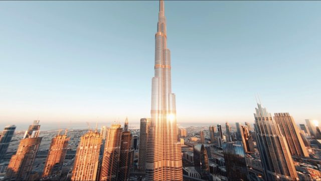 drone fpv dubai Burj Khalifa