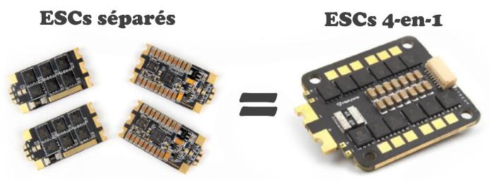 ESCs séparés vs 4-en-1