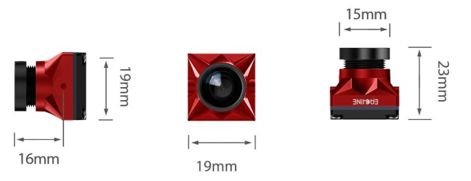 Dimensions Caddx Eachine AirSight