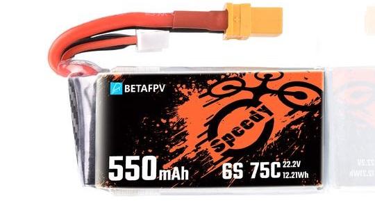 LiPo 550mAh 6S 75C BetaFPV