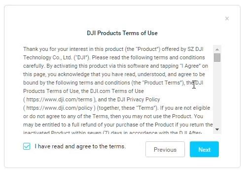 Tuto activation DJI Digital FPV System 04 - Conditions d'utilisation