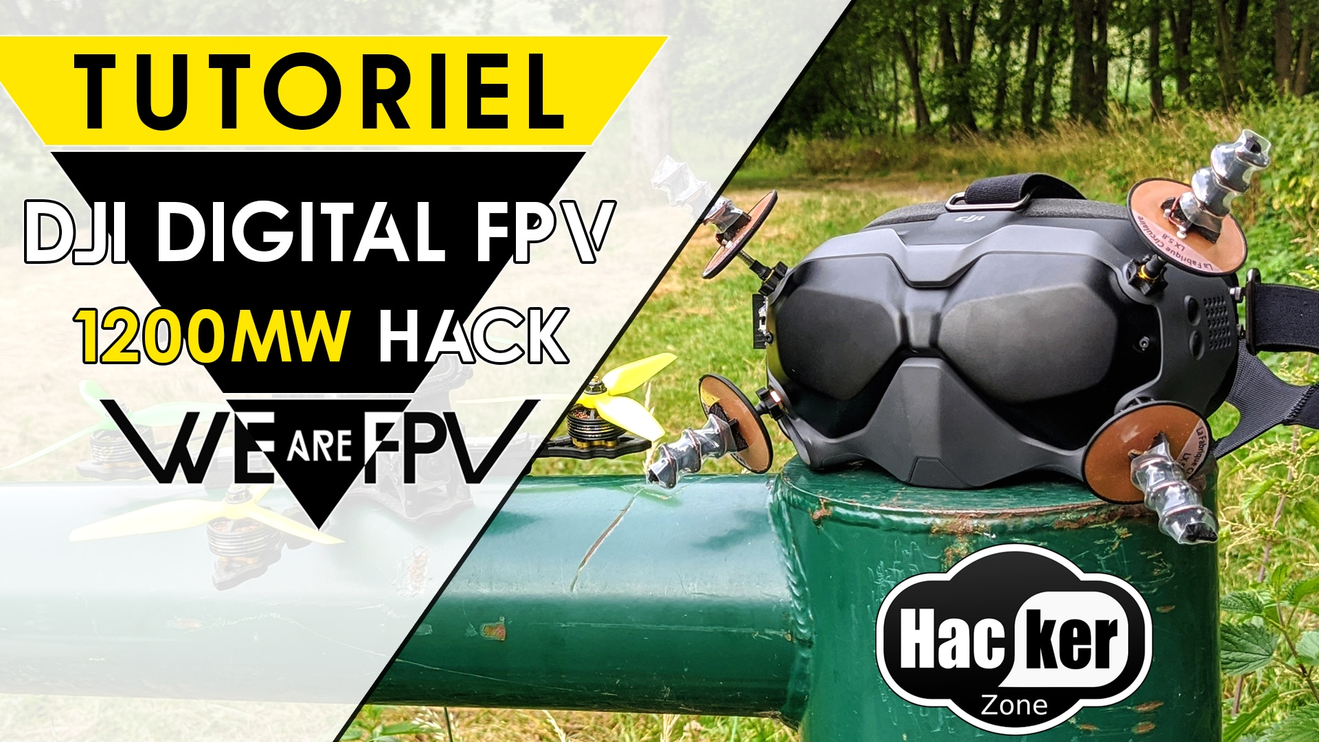 HACK DJI DIGITAL FPV SYSTEM FCC 1200MW POWER