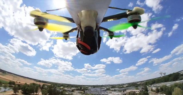 test insta360 go drone fpv