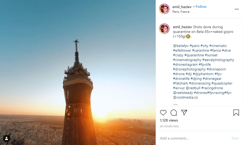 Instagram Drone FPV Tour Eiffel
