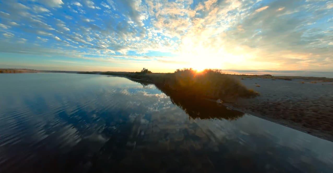 Sainte-Marie plage drone FPV