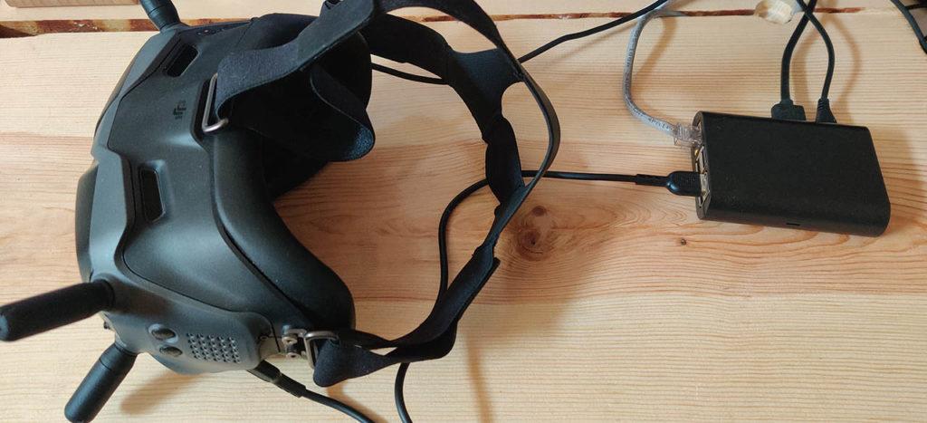 dji fpv goggles raspberry pi streaming